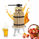 Fruit Apple Cider Wine Classic Press -  1.6G/3.17G/4.75G/7.9G -Solid Wood Basket- 6 Press Wooden Blocks - EJWOX Products Inc