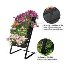 Load image into Gallery viewer, Vertical Raised Garden Bed with 5 Self Watering Pots - Indoor Outdoor Elevated Freestanding Kit, Water-Smart Design/Easy to Set Up Garden Planters Ideas for Patios/Decks/Verandahs