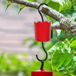 EJWOX Hummingbird Feeder Insect Guard - Outdoors Large Ant Moat with Hooks, 2-Pack, Red