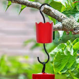 EJWOX Hummingbird Feeder Insect Guard - Outdoors Large Ant Moat with Hooks, 2-Pack, Red - EJWOX Products Inc