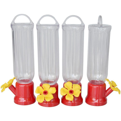ejwox 4-Pack Mini Hummingbird Feeders