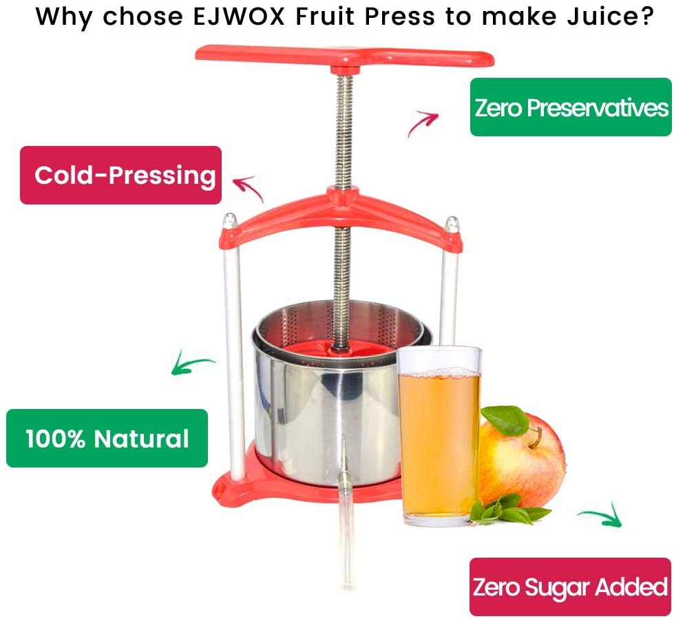 Fruit Wine Press Aluminum - 1.6 Gallon,Red