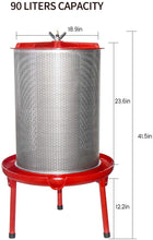 Load image into Gallery viewer, Hydropress Cider Wine Fruit Press (23.8 Gallon)