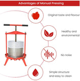 Wine/Cider/Fruit Press T-Handle - 2.38 / 3.69 Gallon Heavy Duty -Christmas SALES!  EJWOX Products Inc