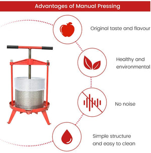 Wine/Cider/Fruit Press T-Handle - 2.38 / 3.69 Gallon Heavy Duty