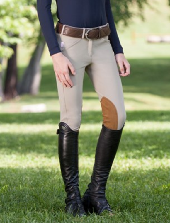 Tailored Sportsman Girl's Tan Trophy Hunter Breech-Front Zip