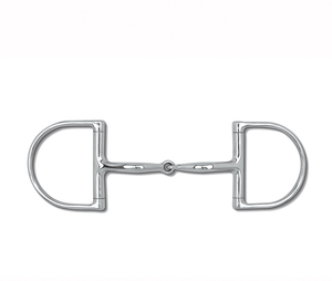 Myler Dee without Hooks with Stainless Steel Snaffle