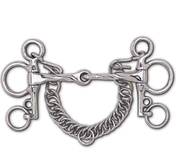 Stainless Steel Slow Twist Snaffle Tom Thumb Pelham Bit