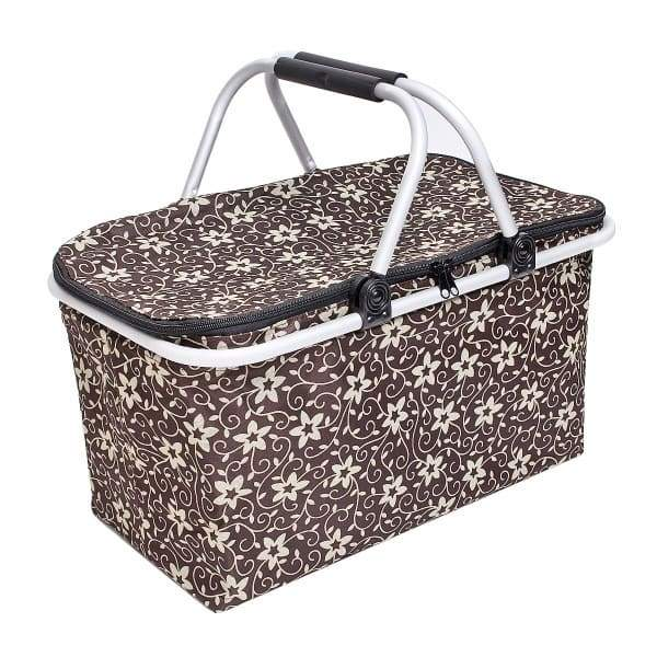 25L Picnic Basket Cooling Bag - Coffee - kitchen supplies