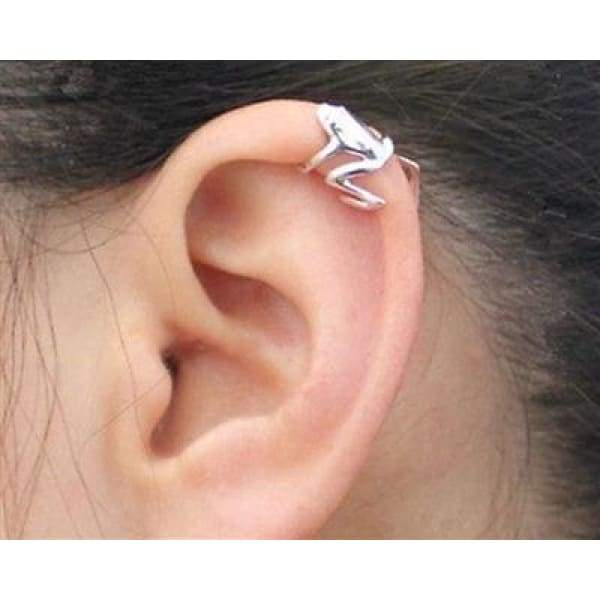 316L Stainless Steel Tree Frog Fake Cartilage Ear Cuff -