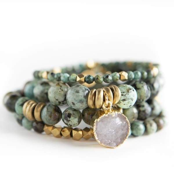 African Turquoise Gemstone Bracelets - Jewelry & Accessories