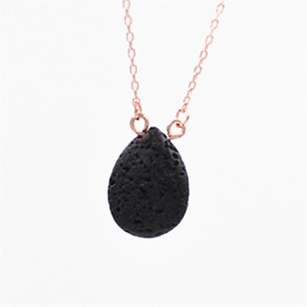 Natural Agate Volcanic Stone Love Triangle Hexagonal Pendant Necklace - XpressGoods
