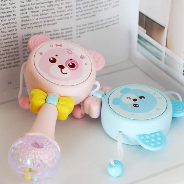 Baby Music Teether Rattle Animals Cartoon Toys - Kids Plush