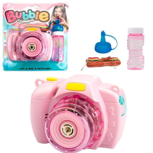 Camera Bubble Blowing Toys | Bubble Machine - Pink - Play