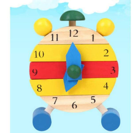 Children's disassembly and assembly alarm clock, small clock, knowing time, preschool education, children's wooden toys - XpressGoods