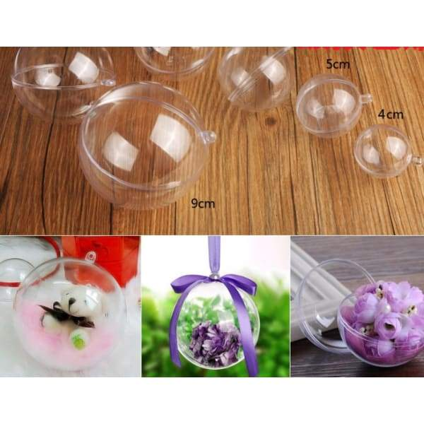 Transparent plastic hollow Christmas hanging ball - SLQ 5 /