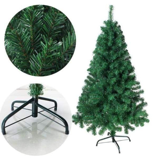 Christmas Party Home Decoration 2.1M Multicolor Tree With Iron Feet - Green - XpressGoods