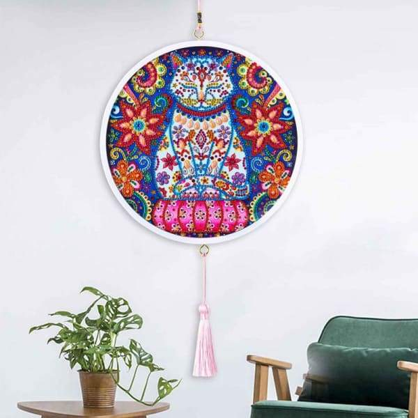 Children's Handmade Diy Circle Hanging - D - Home & Garden
