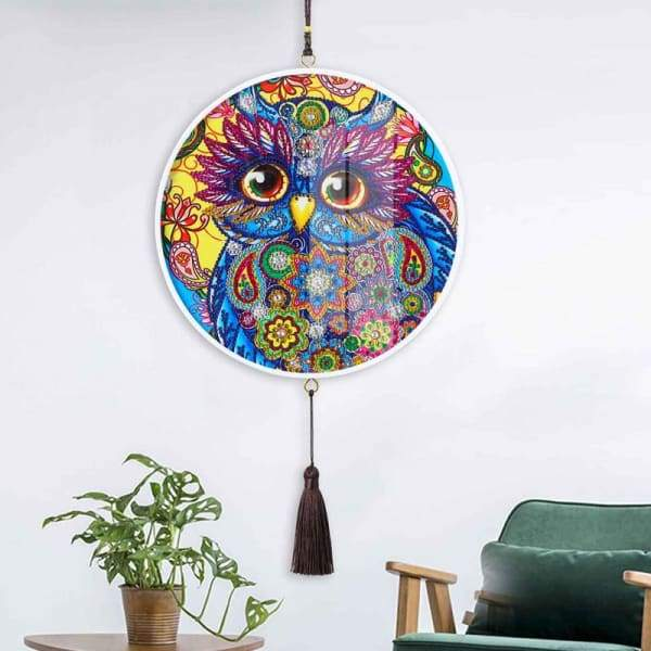 Children's Handmade Diy Circle Hanging - F - Home & Garden