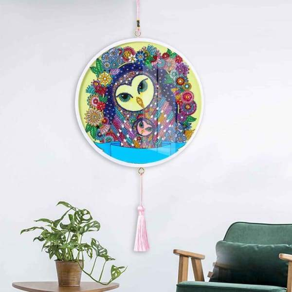 Children's Handmade Diy Circle Hanging - G - Home & Garden