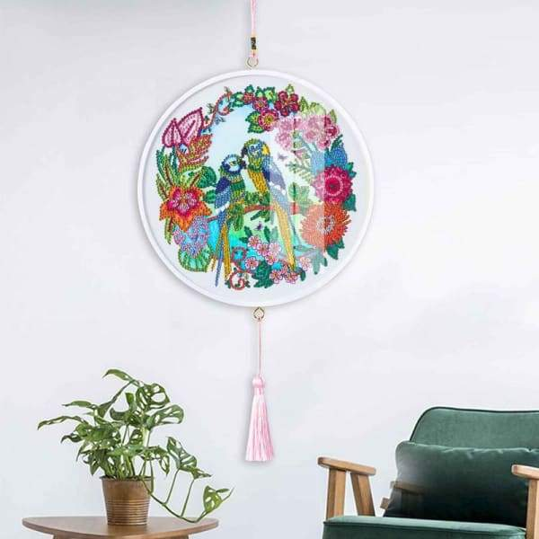 Children's Handmade Diy Circle Hanging - J - Home & Garden