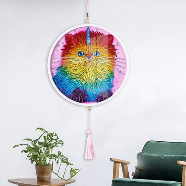 Children's Handmade Diy Circle Hanging - R - Home & Garden