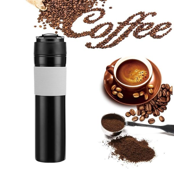 Coffee Pot | Portable Coffee Maker - Black / 300ml - kitchen