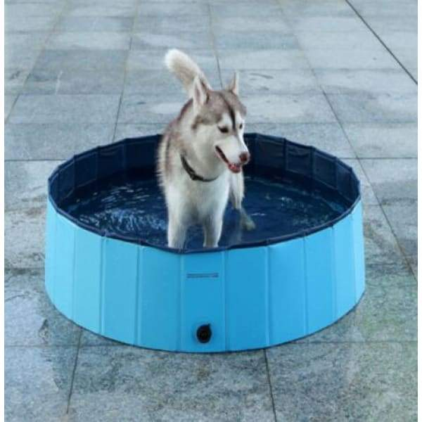Foldable Pet Dog Swimming Pool - Blue / S - pets collections