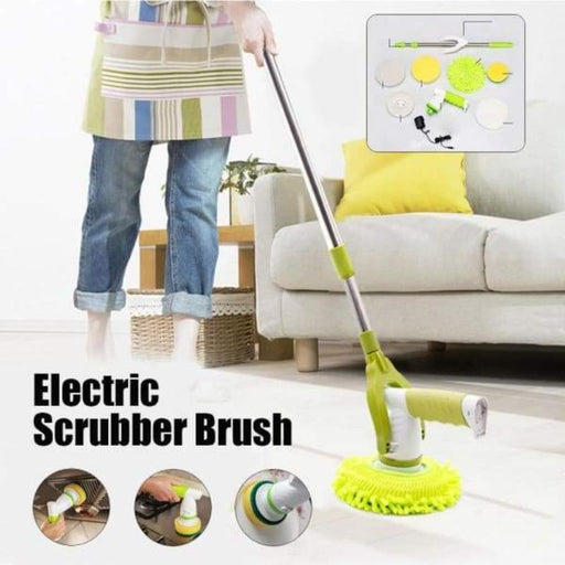Rechargeable Electric Cleaning Brush Mop - Green / US - Home