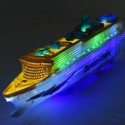 Electric universal cruise ship with light and music - White