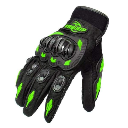 Full Finger Motorcycle Kawasaki Gloves Motocross Leather
