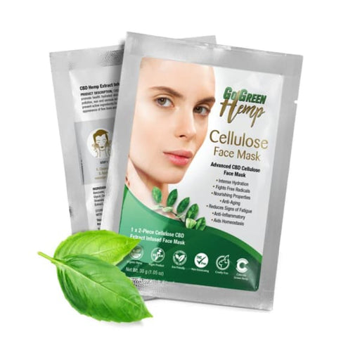 GoGreen Hemp Cellulose CBD Face Mask - Beauty & Health - CBD