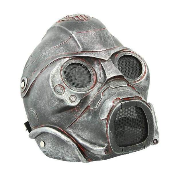 Halloween Horror Fallout 3 Ghost Mask - Ancient silver -