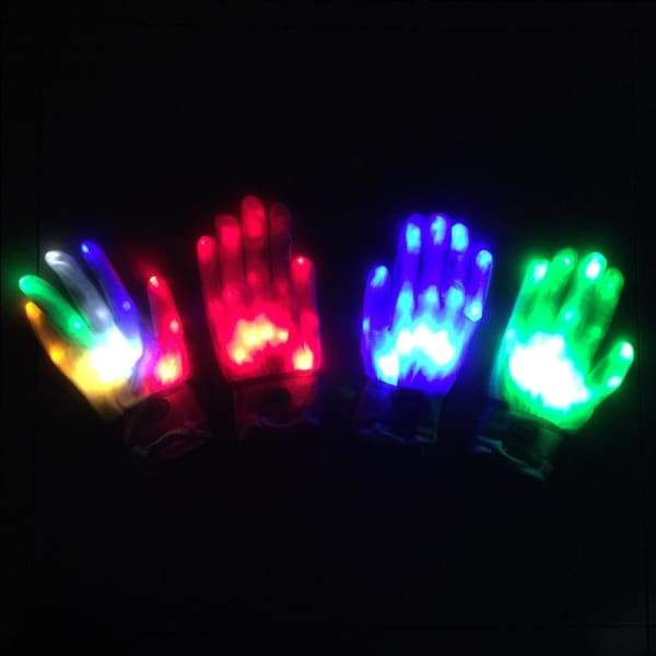 Halloween LED Skeleton Hand Gloves - Halloween Supplies