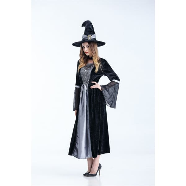 Halloween Witch Costume - Gray - Halloween Supplies