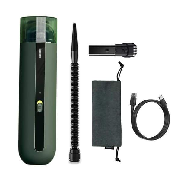 Wireless charging of car vacuum cleaner - Green / 1 -