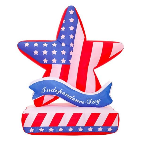 Inflatable Glowing Stars Cross-Border American Party Flag |