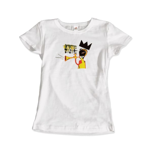 Jean-Michel Basquiat Trumpet Artwork T-Shirt - Men / White /