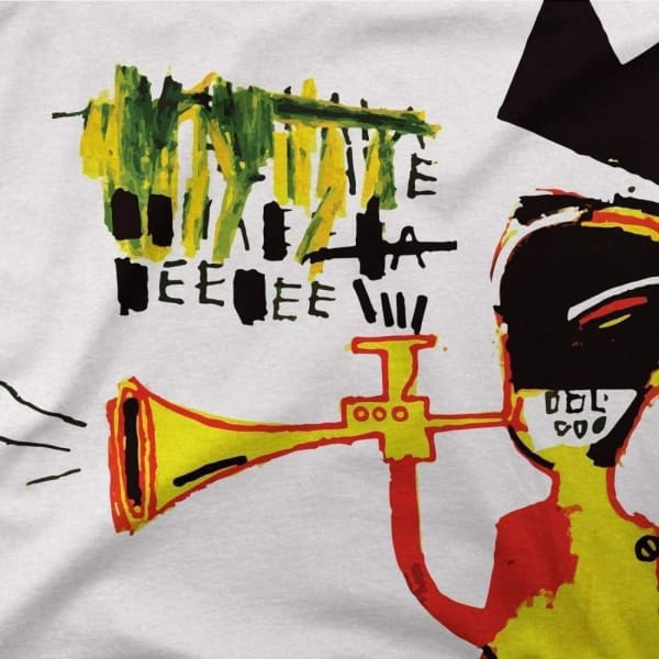 Jean-Michel Basquiat Trumpet Artwork T-Shirt - Men's Fashion