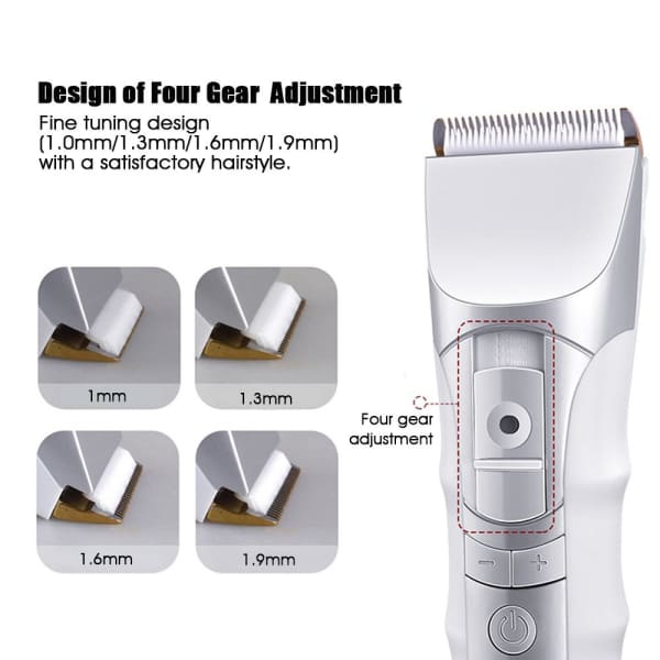 KEMEI Hair Clipper Electric Hair Trimmer - silver -