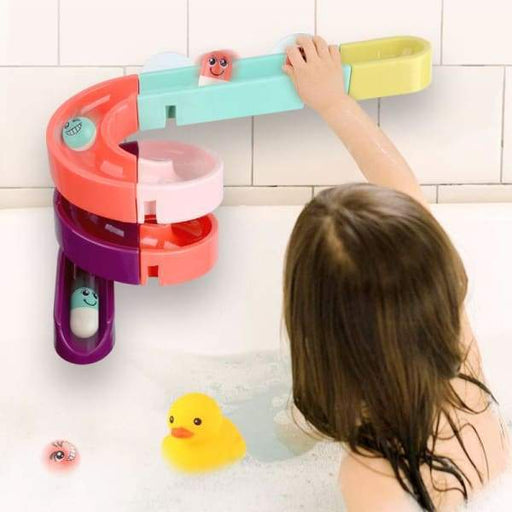 Kids Bath Wall Suction Cup Marble Race Run Track - Kids &