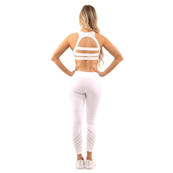 Laguna Set - Leggings & Sports Bra - White - Sports &