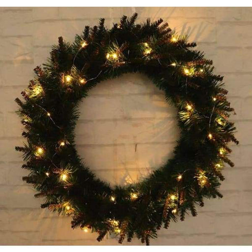 LED Light Christmas Wreath Tree Door Wall Hanging Party Garland Decorations - 40cm - XpressGoods