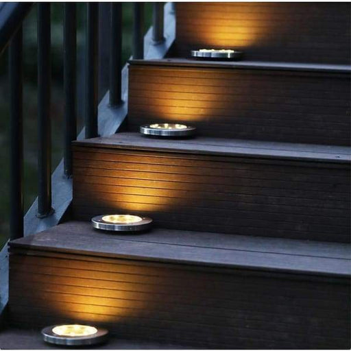 LED Solar Powered In-Ground Lights - Solar Pathway Lights - XpressGoods