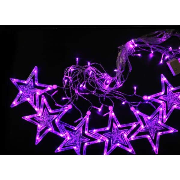 Festival Lantern Strings Window Pentagram Curtain Lights - XpressGoods