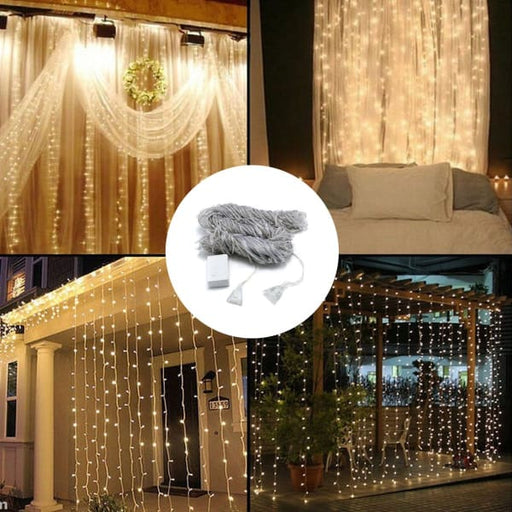 LED Waterfall Curtain String Light - Warm White - Home &