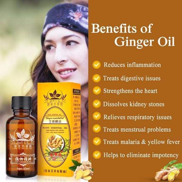 Lymphatic Drainage Ginger Essential Oil For Swelling |