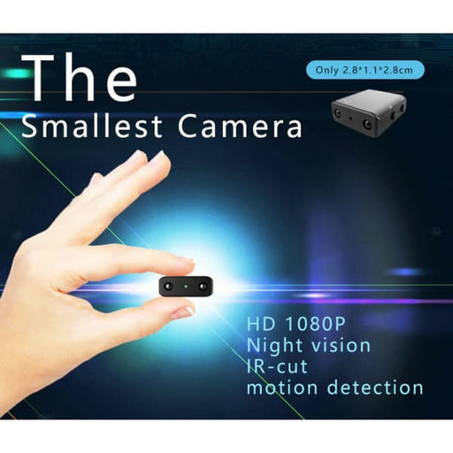 Micro HD Video Camera | Micro Camera with Audio - Black -