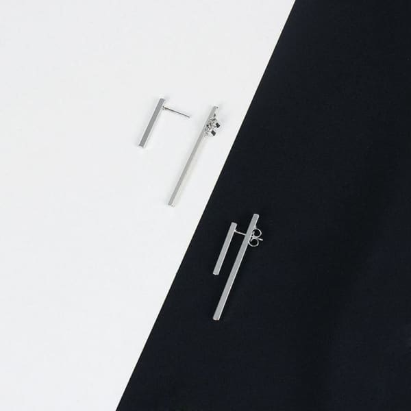 Minimalism Gold Silver Punk Simple Bar Earrings For Women - XpressGoods