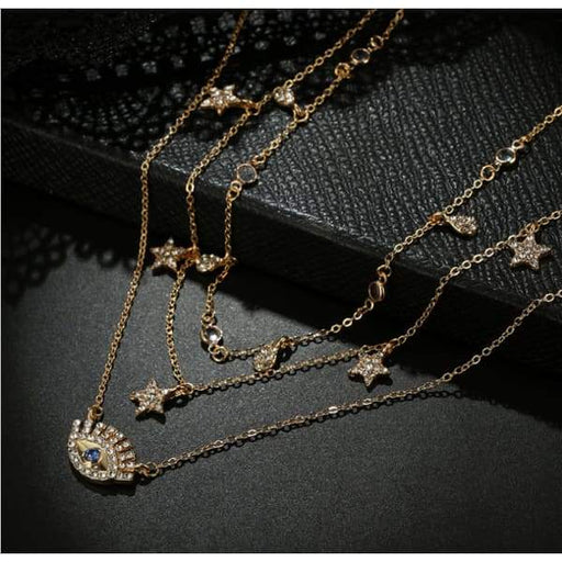 Multi Layer Necklace - Gold - Beauty & Health - Hair Care &